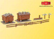 Kibri 37028 Alpesi terménytároló (2 db), kerítéssel, Sertig