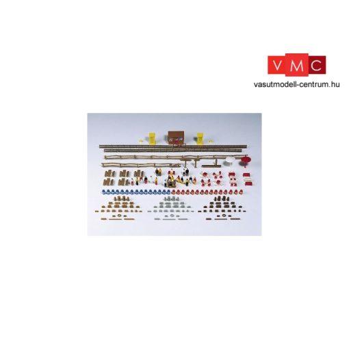 Kibri 37490 Különböző kiegészítők: hordók, kerítések, székek, asztalok stb. (N)
