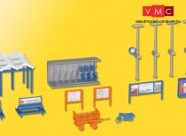 Kibri 38108 Vasútállomási kiegészítők