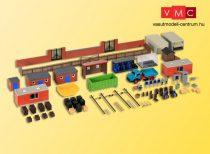 Kibri 38313 Városi kiegészítők: hátsóudvar készlet