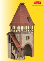 Kibri 38470 Városkapu favázas épülettel és feljáróval - Chatenois (H0)