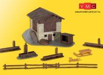 Kibri 38814 Alpesi terménytároló kerítéssel