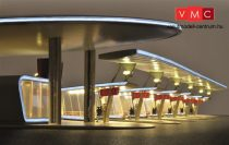 Kibri 39000 Modern buszállomás (Halle), 6 db fedett beálló, világítással (H0)