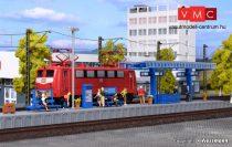kibri 39557 H0 Moderner Bahnsteig mit LED-Beleuchtung