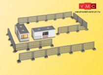 Kibri 48627 Lakókonténer készlet kerítéssel, STRABAG - világítással