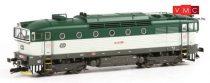 Kuehn 33310 Dízelmozdony Rh 750, CD, zöld (TT)