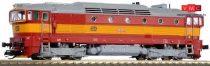 Kuehn 33312 Dízelmozdony Rh750, CD, piros/sárga (TT)
