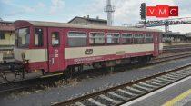 Kuehn 33762 Dízel motorvonat BR 810 (ex. M152.0) betétkocsi, csontszín/piros, CD (E5) (TT)