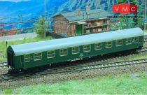 Kuehn 41660 Személykocsi (YB/70), négytengelyes Y sorozat, 1. osztály, DR, zöld (TT)