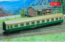 Kuehn 41664 Személykocsi (YB/70), négytengelyes Y sorozat, 1. osztály, DR, zöld/csontszín