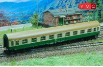 Kuehn 41674 Személykocsi (YB/70), négytengelyes Y sorozat, 1/2. osztály, DR, zöld/csontszí