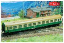 Kuehn 41686 Személykocsi (YB/70), négytengelyes Y sorozat, 2. osztály, DR, zöld/csontszín,