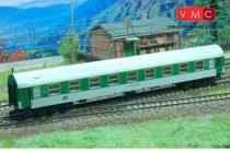 Kuehn 41712 Személykocsi (YB/70), négytengelyes Y sorozat, 1. osztály, CD, zöld/fehér, má