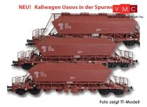 Kuehn 93014 Mészszállító négytengelyes önürítős teherkocsi-készlet, 3-részes Uaoos93