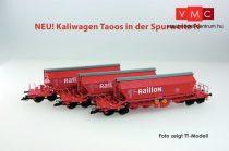 Kuehn 93034 Mészszállító négytengelyes önürítős teherkocsi-készlet, 3-részes Taoos89