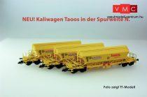 Kuehn 93036 Mészszállító négytengelyes önürítős teherkocsi-készlet, 3-részes Taoos89