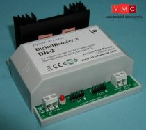 LDT 080063 DB-2-G as finished module in a case: Short-circuit protected DigitalBooster 2.5A (Märklin-Motorola- and DCC-Format) for Control Unit, Intellibox, TWIN-CENTER, KeyCom, DIGITAL-S-INSIDE, Eas