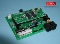LDT 080071 DB-4-B as kit: Short-circuit protected DigitalBooster 4.5A, with 5 poles booster bus