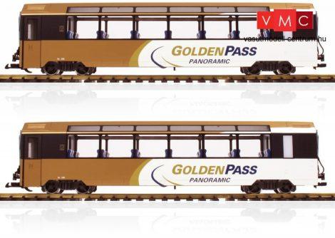 LGB 39667 Személykocsi-pár, négytengelyes Golden Pass - MOB (E6) (G)