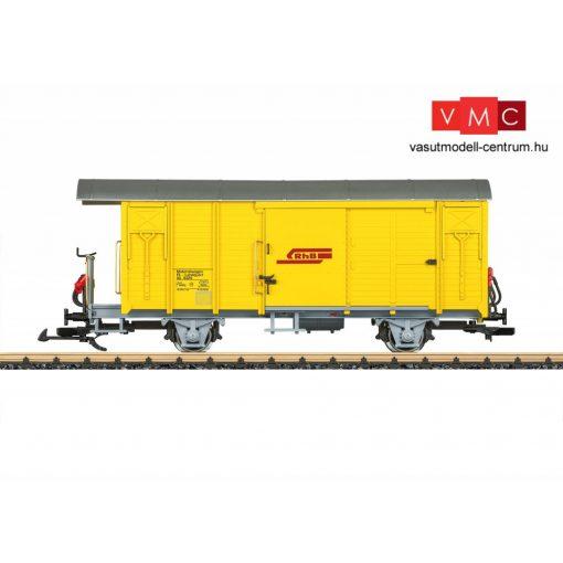 LGB 40816 Fedett vasútüzemi teherkocsi fékállással, Xk, RhB (E5) (G)