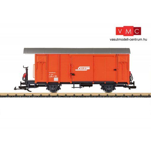 LGB 40817 Fedett vasútüzemi segélykocsi fékállással, Xk 9005, RhB (E4) (G)