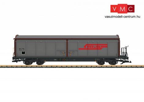 LGB 48570 Eltolható oldalfalú négytengelyes teherkocsi fékállással, Haik-v, RhB (G)