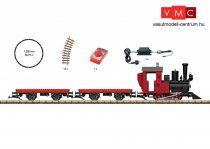 LGB 90463 Analóg kezdőkészlet: Gőzmozdony tehervonattal építőkockák szállításához,
