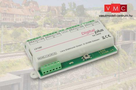 Lenz 11100 LS100 Váltódekóder 4 db váltóhoz, visszajelentéssel