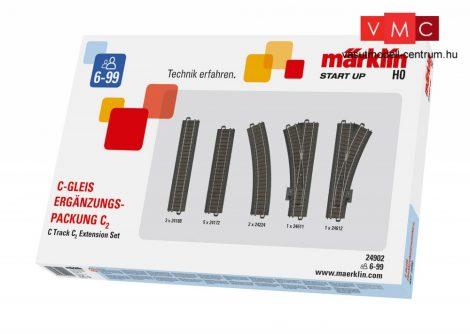 Märklin 24902 Märklin Start up - C2 ágyazatos sínkészlet, C-Gleis