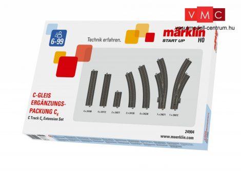 Märklin 24904 Märklin Start up - C4 ágyazatos sínkészlet, C-Gleis