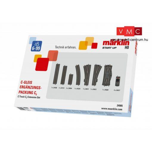 Märklin 24905 Märklin Start up - C5 ágyazatos sínkészlet, C-Gleis (H0) - AC