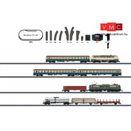Märklin 29051 Digitális kezdőkészlet: BR 151 villanymozdony tehervonattal és BR 218 dízel