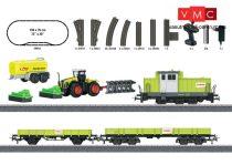 Märklin 29652 Kezdőkészlet: Dízelmozdony mezőgazdasági járművekkel, ovál pálya megker