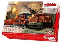 Marklin 29722 Digitális kezdőkészlet: Villanymozdony tűzoltó vonattal - Feuerwehr, Start up (H0) - AC