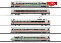 Marklin 39716 Nagysebességű villamos motorvonat BR 412/812, ICE 4, 5-részes, zöld csíkkal, DB-AG (E6) (H0) - AC / Sound