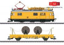 Marklin 39973 Felsővezeték karbantartó motorvonat mozgó tetőállvánnyal, BR 701, munkavezetékszállító teherkocsival (DB) (E4) - AC / Sound