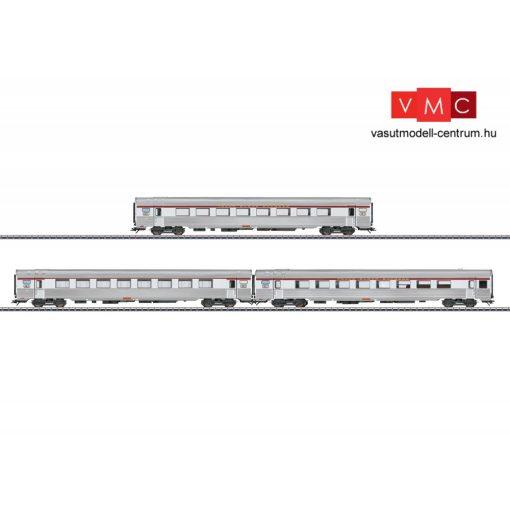 Märklin 41879 Személykocsi-készlet, 3-részes négytengelyes INOX, TEE, SNCF / SNCB (E4) (H0) - AC