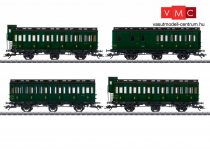 Märklin 42042 Oldalfellépős háromtengelyes személykocsi-készlet, 4-részes, SNCF (E3) (H0) - AC