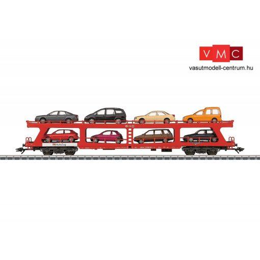 Märklin 42341 Autószállító négytengelyes teherkocsi, 8 db autóval, DB-AG (E5) (H0) - AC