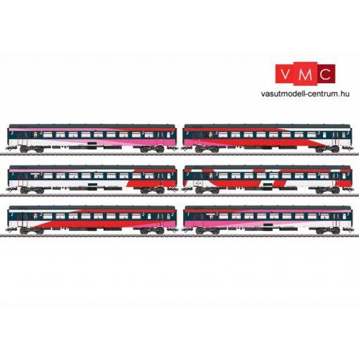 Märklin 42648 Személykocsi-készlet, 6-részes négytengelyes IC kocsik, ICRm, NS (E6) (H0) -