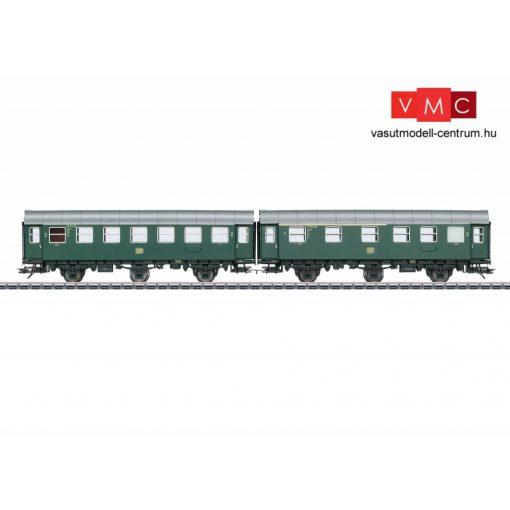 Märklin 43173 Személykocsi-pár, háromtengelyes Umbauwagen, AB3ygeb + B3ygeb, 1./2. és 2. osztály, DB (E3) (H0) - belső világítással - AC