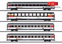 Märklin 43651 Személykocsi-készlet, 4-részes négytengelyes EuroCity, SBB, belső világítással (E6) (H0) - AC