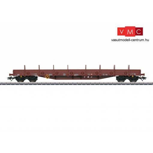Märklin 47000 Alacsony oldalfalú négytengelyes rakoncás teherkocsi, Res 676, DB-AG (E5) (H0) - AC