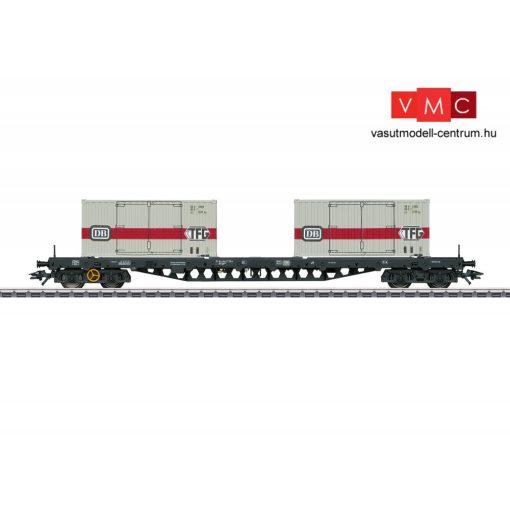 Märklin 47048 Konténerszálltó négytengelyes teherkocsi, Sgs 693, 2 db 20 lábas konténerrel, DB (E4) (H0) - AC