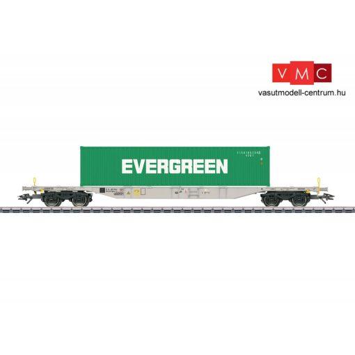 Märklin 47065 Konténerszállító négytengelyes teherkocsi, Sgnss 114, 40 lábas konténerrel - EVERGREEN, AAE (E6) (H0) - AC