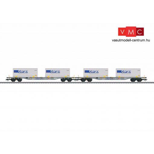 Märklin 47096 Konténerszállító négytengelyes teherkocsi-pár, Sgnss, cserefelépítményekkel - Cargo / Domino, SBB Cargo (E6) (H0) - AC