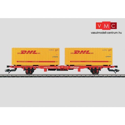 Märklin 47705 Konténerszállító teherkocsi, Lgns 570, 2 db 20 lábas csereszekénnyel, DB-A