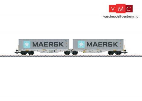 Märklin 47803 Konténerszállító iker-teherkocsi, Sggrss, 2 db MAERSK konténerrel, D-BTSK (