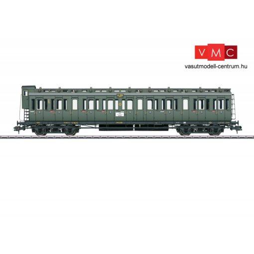 Märklin 58084 Oldalfellépős négytengelyes személykocsi fékházzal, C4 pr 04, 3. osztály,