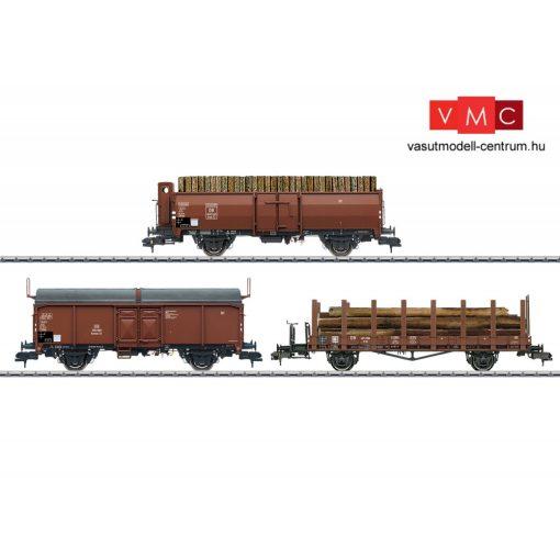 Märklin 58229 Tehervagon-készlet, 3-részes nyitott, rakoncás és eltolható tetejű teherko